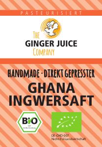 Ginger Juice Bio-Ingwersaft GHANA